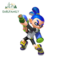 EARLFAMILY 13cm x 7.2cm for Splatoon Car Stickers Waterproof Decal Anime Sunscreen Laptop Car Assessoires Occlusion Scratch
