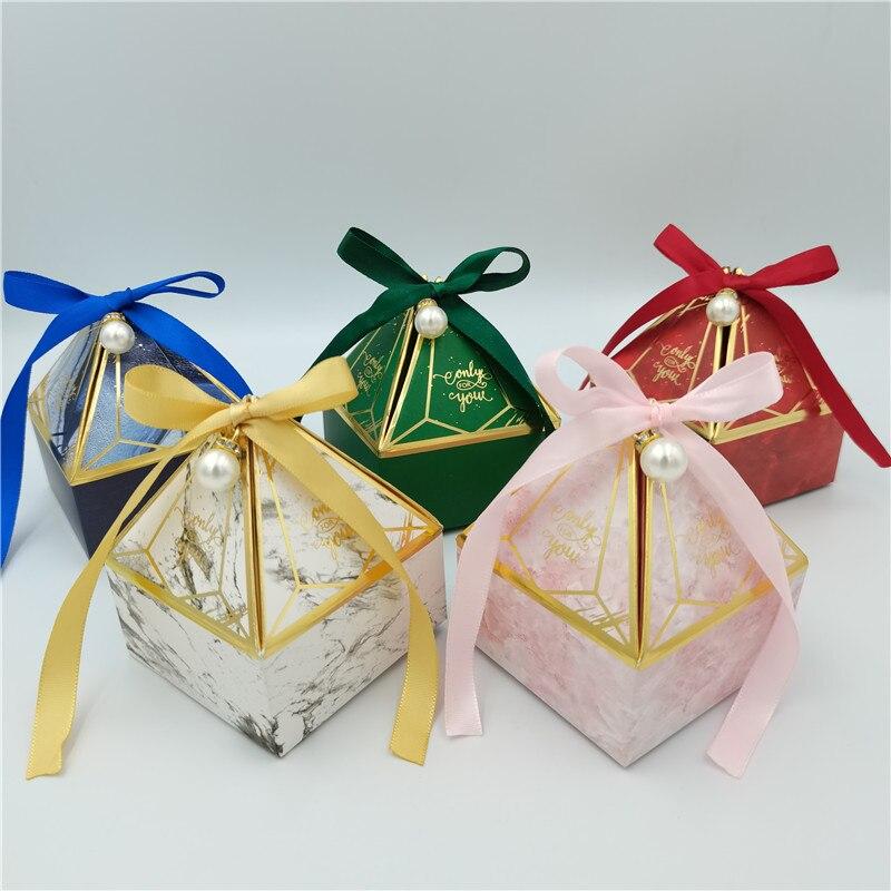 Novo mármore caixa de presente embalagem gem