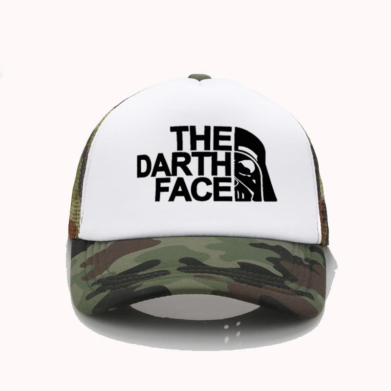 Fashion Trucker Cap Star Darth Wars Funny Caps Men The Darth Face Baseball Cap Cool Summer Mesh Cap
