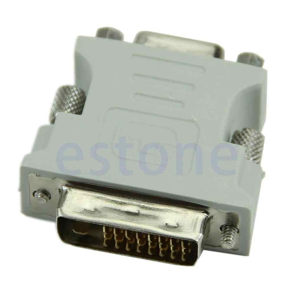 عالية الجودة VGA 15 دبوس PC كمبيوتر محمول الإناث 24 + 1 دبوس إلى DVI-D الذكور محول محول LCD أدنى بالجملة محدودة بيع