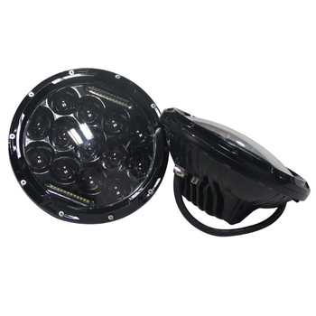 75W Headlight Round Large LED Head Lamps for Jeep Wrangler Harley Motorcycle