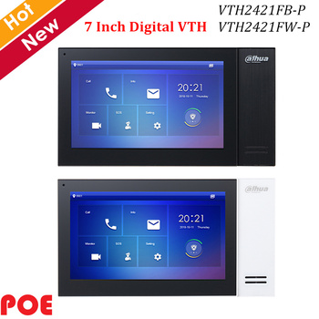 "Dahua Video Citofoni IP Digitale 7 ""TFT Touch Screen Incorporato 8GB scheda SD e POE VTH2421FB-P VTH2421FW-P Campanello accessorio"