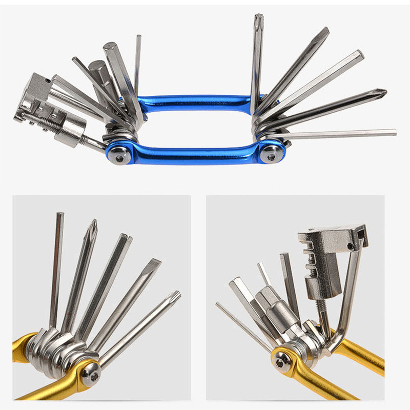 1Pcs Creative Practical Cycling Supplies Multi-Function Eleven In One Portable Bicycle Repair Tool Combination