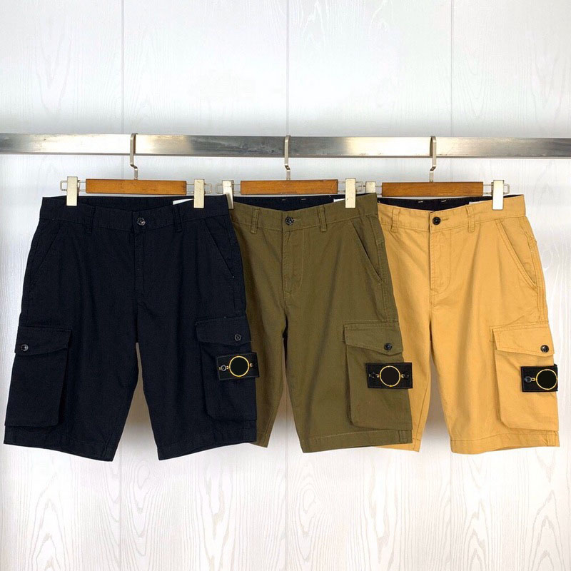 2020 Spring Summer Cargo Shorts Men Women Military Style Cotton Men Multi Pocket Casual Compass Badge Embroidery Shorts