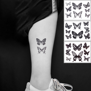 Waterproof Temporary Tattoo Sticker  Butterfly Fake Tatto Flash Tatoo leg Arm hand foot tatouage for Girl Women lady 1