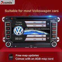 Reproductor DVD coche 2 Din para VW Volkswagen Passat b6 b7 Skoda Octavia Superb 2 T5 Golf 5 Polo Seat leon GPS gratis 8 GB Tarjeta de mapa BT