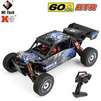 WLtoys-coche de carreras RC de alta velocidad, 2,4G, 60 Km/h, chasis de Metal, 4wd, todoterreno derrape en carretera, coches eléctricos de Control remoto, juguetes 124018