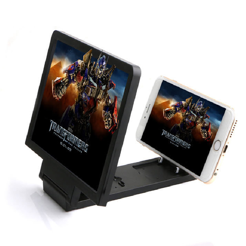 3D Screen Amplifier Universal Mobile Phone Magnifying Glass HD Video Stand Bracket Folding Screen Enlarged Eyes Protection Hold