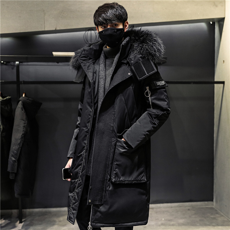 Winter Korean Version Of The Thickened Down Jacket In The Long Trend Of Handsome Men's Jacket