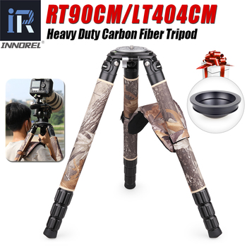 Camouflage Carbon Fiber Tripod for DSLR Camera Professional Birdwatching Heavy Duty Camera Stand Ultra Stable 40mmTube 40kg Load heavy duty carbon fiber tripod for dslr camera af80c professional camera stand 65mm bowl adapter fast flip lock 20kg max load