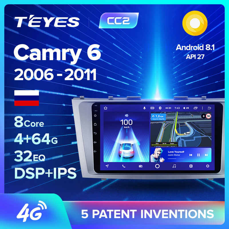 Teyes CC2 Voor Toyota Camry 6 Xv 40 50 2006-2011 Auto Radio Multimedia Video Player Navigatie Gps Android 8.1 Geen 2din 2 Din Dvd