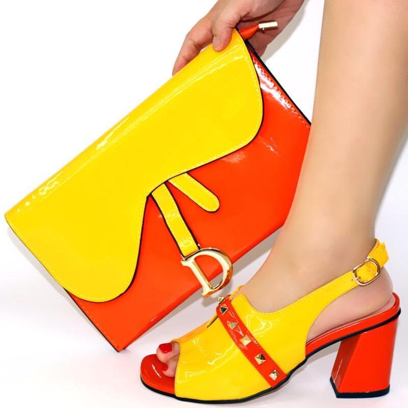Haute qualité italien élégant pompes chaussures et sac ensemble confortable dames chaussures de mariage et sac ensemble pour robe de soirée 4 couleurs TX-108