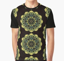 All Over Stampa 3D Tshirt cuore Verde chackra guarigione mandala Stampa Completa Grande stampa Graphic T Shirt(China)