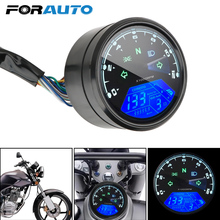 Anti brilho led multi função indicador digital tacômetro medidor de combustível painel da motocicleta velocímetro visão noturna dial odômetro