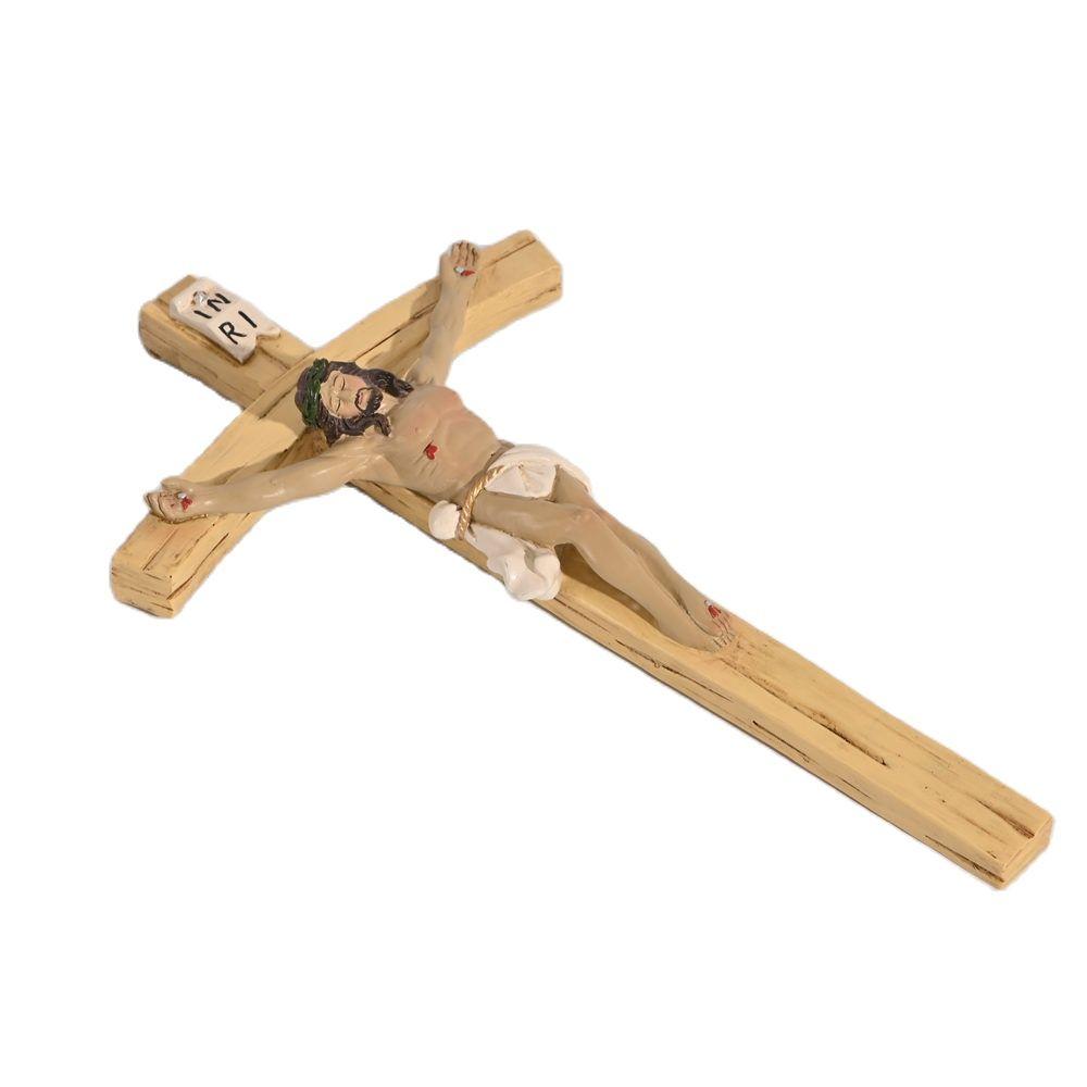 Jesus Christ Cross Ornament Resin Handicraft Decoration Length 21cm/ 32cm Religion Church Home Decor Figurine Gift Xmas Display