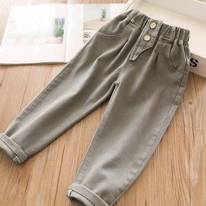 Image 4 - 2020 bahar bebek kız pamuk rahat pantolon toptan