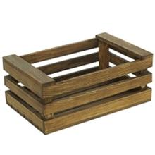 ABSS-cesta de almacenamiento de madera Retro Vintage pan postre Mesa decoración marco multifunción organizador cesta exhibición soporte Prop