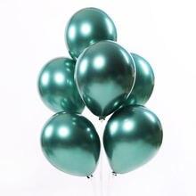 10 шт дюймов шары из латекса цвета металлик темно зеленый круглый