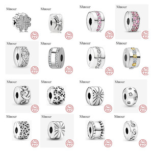 New clover bow path leaf star clip DIY Beads Fit Original Pandora charms silver 925 Bracelet Bead Jewelry making