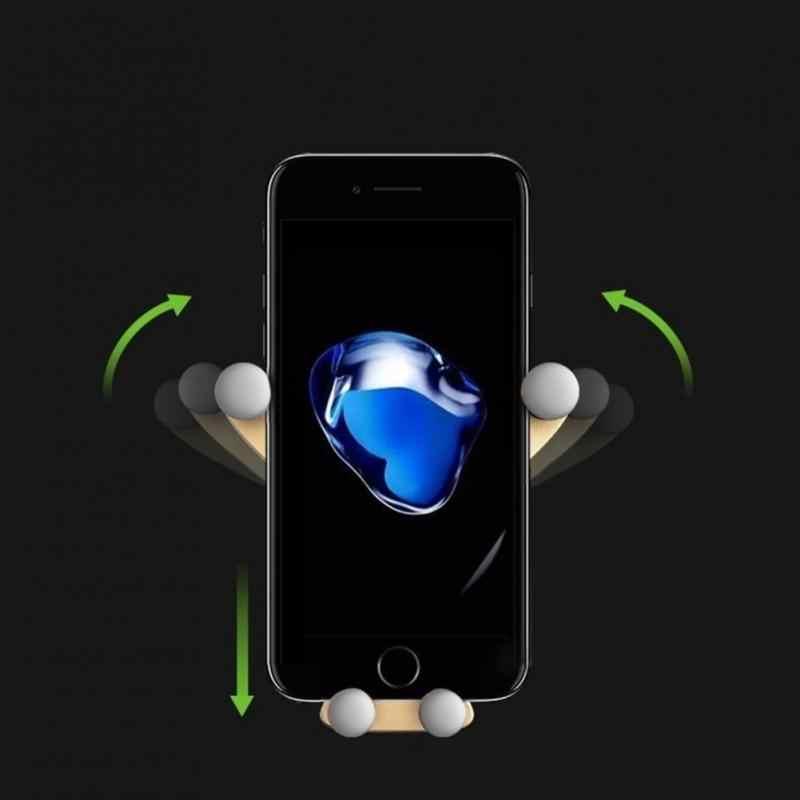 أحدث الجاذبية قوس حامل هاتف السيارة مرنة العالمي سيارة الجاذبية دعامة حامل حامل هاتف المحمول آيفون x7 8 سامسونج