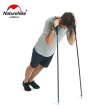 Naturehike 110cm 120cm 130cm collapsible carbon fiber trail running pole lightweight folding compact trekking walking stick