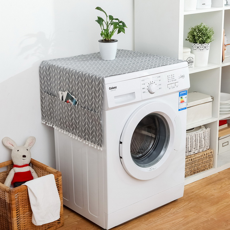 Household Washing Machine Dust Cover Kitchen Refrigerator Dustproof Covers With Storage Bag Cleaning Accessories Supplies