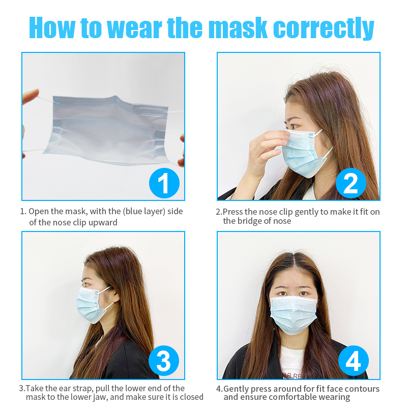 Image 4 - Face Mouth Masks 3 Layer Disposable Medical Protective Masks Dust