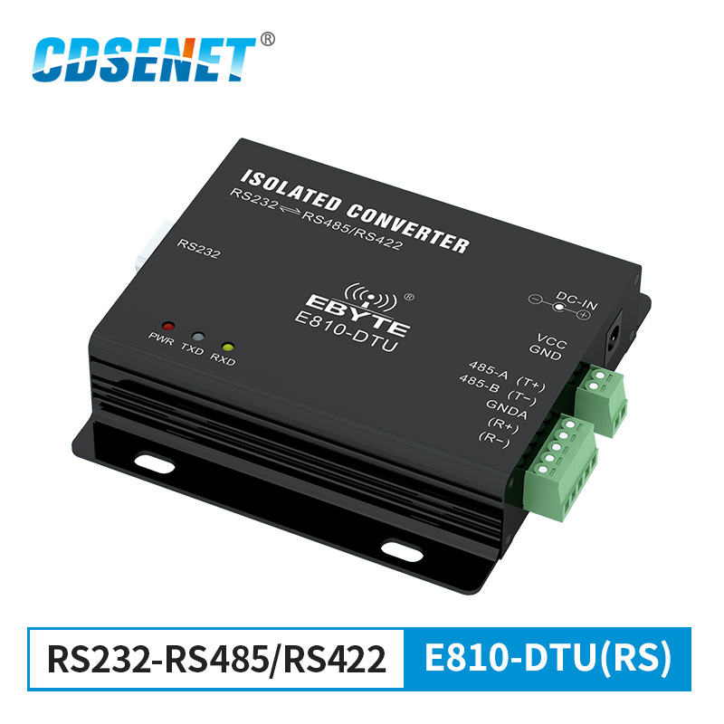 E810-DTU(RS) RS232 RS485 RS422 Isolated Bidirectional Converter Transparent Transmission Modem