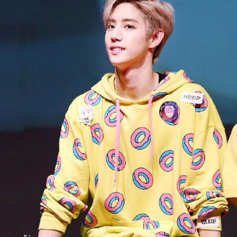 The Factory Supplies Sweet Bun Sale Hoodies Sweatshirt Tops Men Women Kpop Donuts Cute Ladies Kook Korean Autumn Spring Kawaii