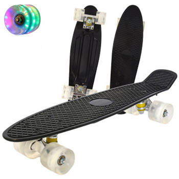 Jusenda 22inch Fish Board Mini Cruiser Skateboard Children Scooter Longboard Skate Boards Retro Penny Board Wheel Truck Bearings