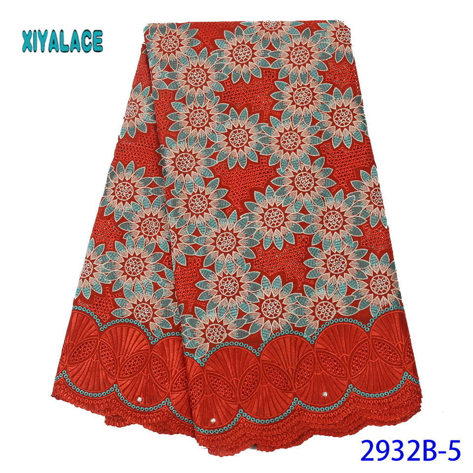 Hot Sale Swiss Voile Lace Fabric High Quality 2019 African Net Laces Fabrics Nigerian Tulle With  For Wedding YA2932B-5