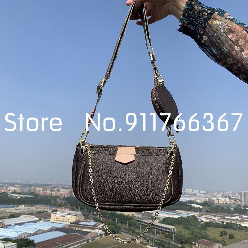 Высококачественные Новые сумки для Маджонга 2021, модная женская сумка-мессенджер из трех частей, многофункциональная сумка, аксессуары, Бес...
