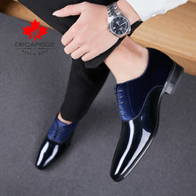 Men Formal Shoes 2019 Autumn & Winter Brand Wedding Dress Shoes Men New Suede Footwear Black Fashion Design Leather Men's Shoes(China)