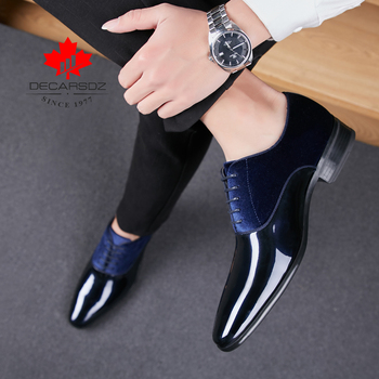 2019 Formal Shoes Men Fashion Black Design Wedding Shoes For Men Brand Autumn Footwear New Men Business Man Dress Shoes Leather