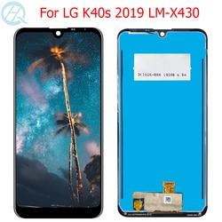 Oryginalny LCD do LG K40S wyświetlacz ekran dotykowy 6.1