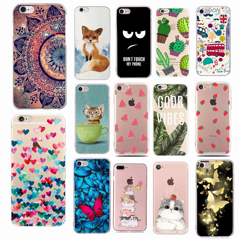For Fundas iPhone SE 2020 5S Case Cover Apple iPhone 6 6S 7 8 Plus X XS Cute Heart Silicone Phone Cover Case For iphone 7 capas