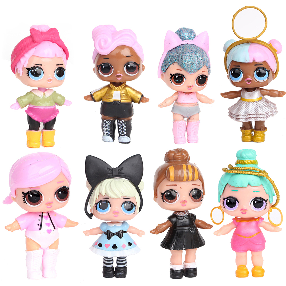 Glitter Original <font><b>Lols</b></font> SURPRISE <font><b>Dolls</b></font> DIY Ball Puzzle <font><b>Lols</b></font> Capsule Girl Toy Surprise <font><b>Dolls</b></font> MGA <font><b>Doll</b></font> Action Figure Toys Kid Gift image
