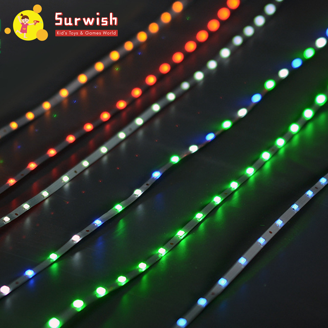 1m 3V Indoor Decorative LED Strip Architecture Sand Table Model Light String - Bright Blue Green White/Green/Red Light