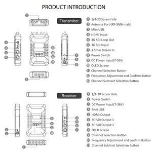 Image 2 - Беспроводной передатчик HOLLYLAND COSMO 600, профессиональный HD видеопередатчик с отверстием для винтов 1/4  20, 3G, SDI, HDMI, 600FT