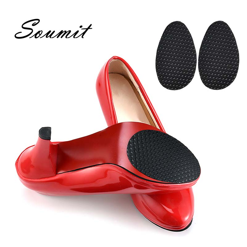 Soumit Anti-Slip Sole Shoes Protector Pads Rubber Self-Adhesive Grip Stickers Out-Soles For High Heel Shoe Repair Soles