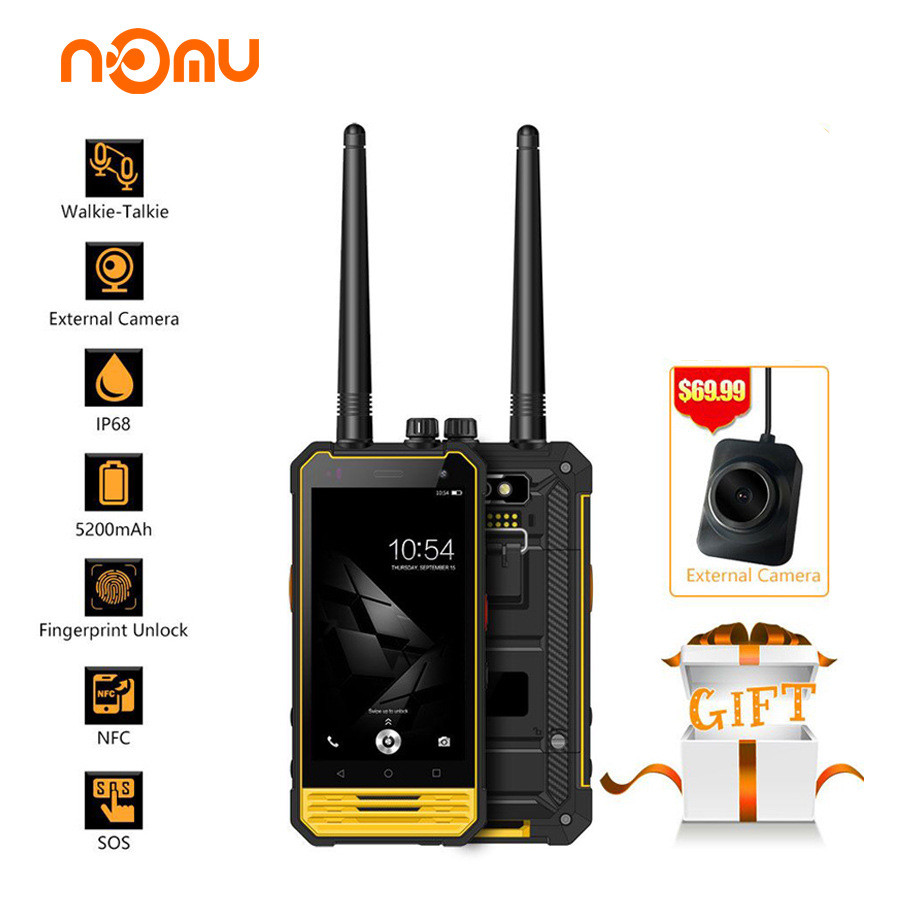 Nomu T18 IP68 Walkie Talkie Waterproof 4G LTE Mobile Phone 4.7 MTK6737T quad core Android 7.0 3GB+32GB 5200mAh NFC Smartphone image