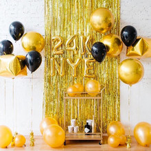 2M 3M Tinsel Curtain Gold Party Backdrop Wedding Decoration Party Curtains Event Party Decorations Christmas Photo Curtains(China)