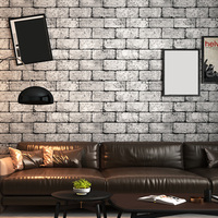 3D Vintage Bricks Pattern PVC Wall Sticker For TV Background Bedroom Living Room Wallpaper Home Decoration