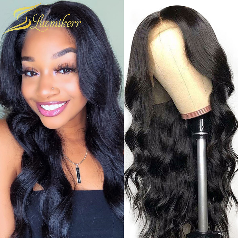 Body Wave Wig Brazilian Lace Front Human Hair Wigs For Black Women Natural Glueless Lace Frontal Wigs Pre plucked with Baby Hair
