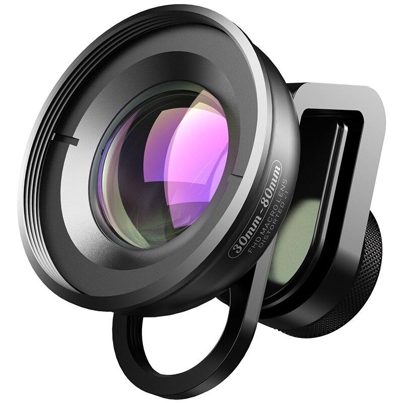 APEXEL HD Optic Camera Phone Lens 30-80Mm Macro Lens Super Macro Lenses for IPhone 7 8 Xs Max Huawei Xiaomi All Smartphones