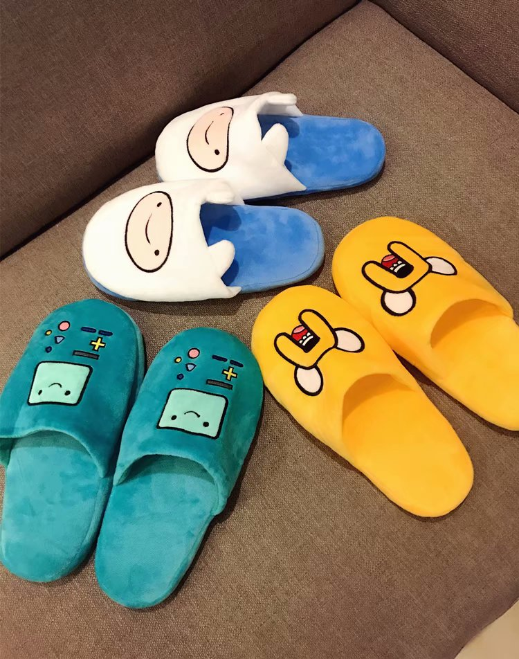 Cartoon Slippers Adventure time Women Anti Slip Finn Jake Indoor Home Slippers  Anime character Bedroom Warm Soft Christmas gift Slippers  - AliExpress