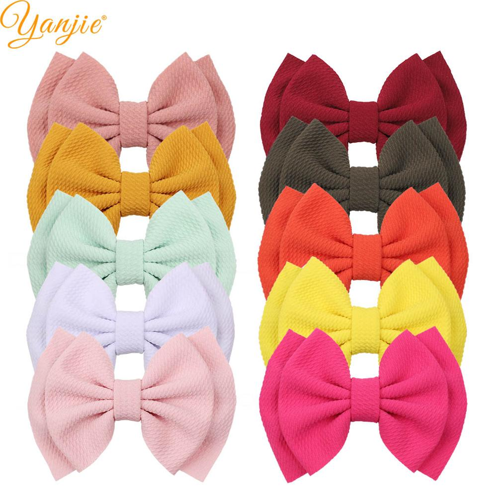 10pcs/lot Hair Bows Barrette 6'' Double Layer Bows Hair Clips For Kids 2019 New Arrival Wholesale DIY Girls Hair Accessories