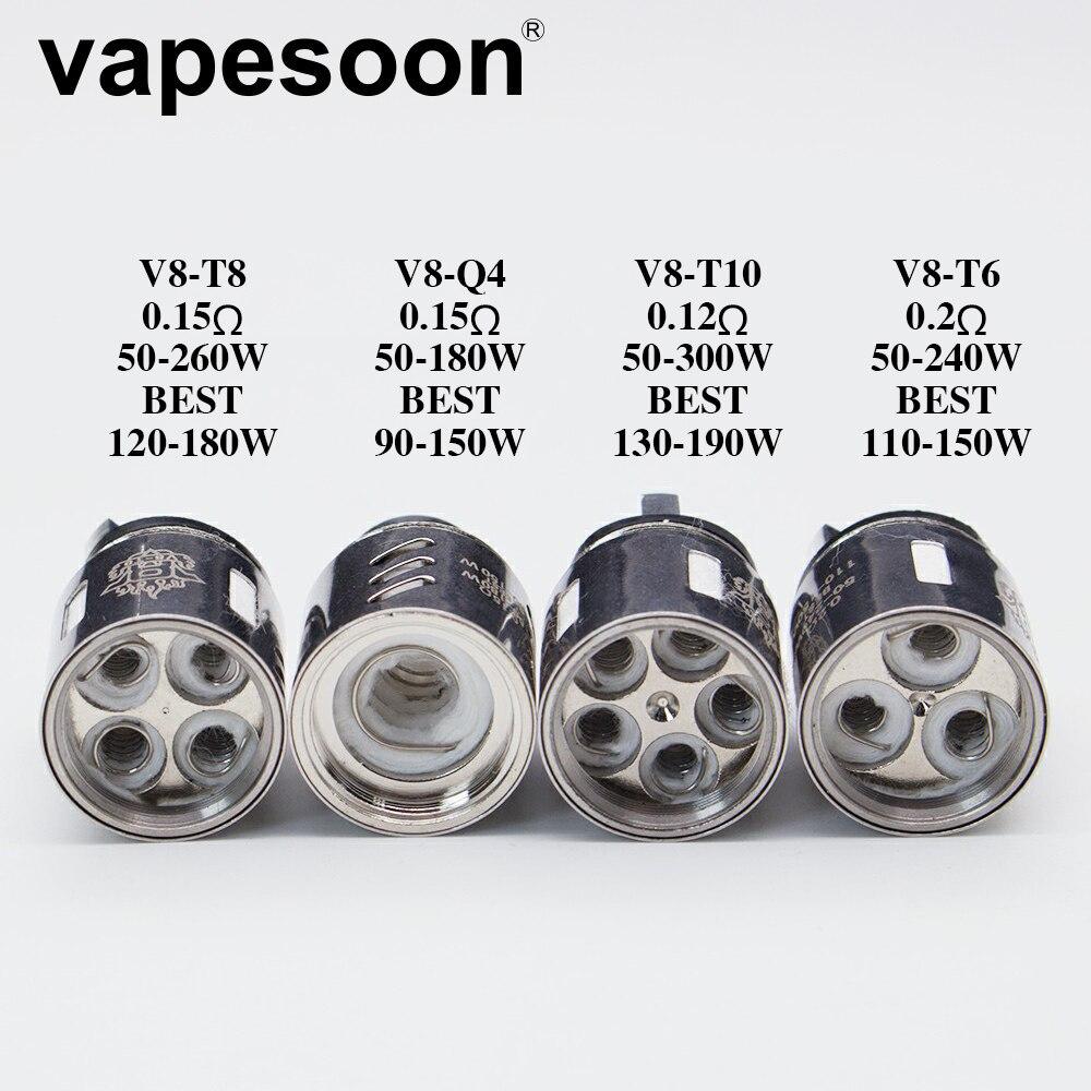 3pcs Authentic VapeSoon Coil Head TF. V88.. Coil Head V8-T10 V8-T6 V8-Q4 V8-T8  V8 RBA Replacement Coils For V8 Cloud Beast Tank