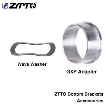 ZTTO suport akcesoria GXP adapter podkładka falowa 0 5mm dla rowerów K7 GXP 24 22mm łańcuch MTB drogowego tanie i dobre opinie accessories Rowery górskie Aluminium stop