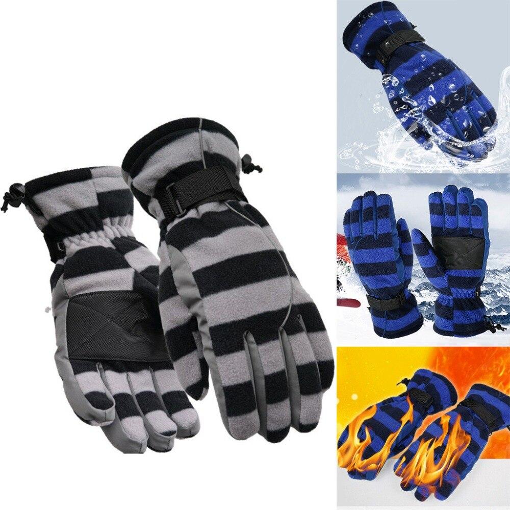 Warm large size finger gloves Women Men Winter Warm Snow Sports Water-splashing Anti-skid Outdoor Gloves for Cycling Ski (1)